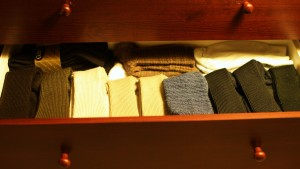 Organized sock drawer