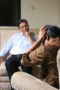 Person receiving mental health treatment
