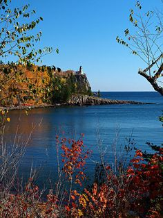 That special blue of Lake Superior in the fall.
