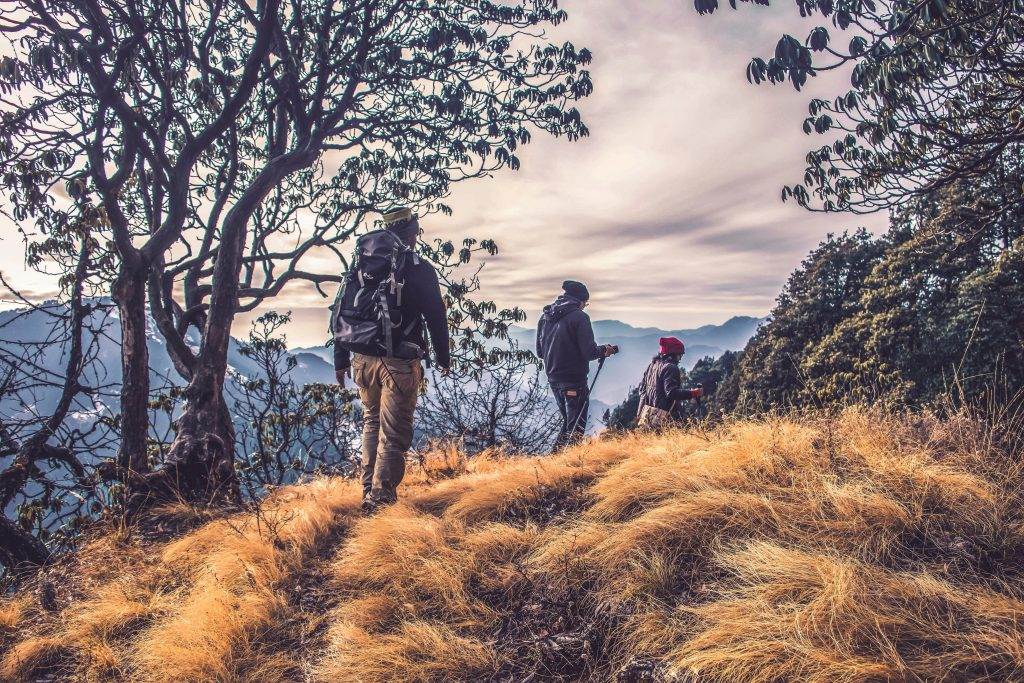 People hiking finding belonging in nature