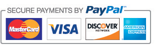 Payment Types Accepted: Paypal, Visa, Mastercard, American Express, Discover
